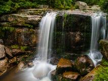 Autumn waterfall. In Jizera mountains (Czech Republic Royalty Free Stock Photo