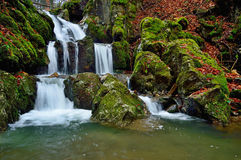 Autumn waterfall landscape Stock Images