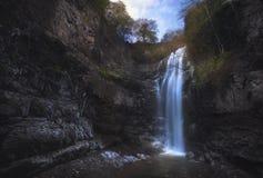 Autumn waterfall landscape stock photos
