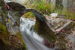 Autumn waterfall long exposure Stock Images