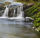 Autumn Waterfall Long Exposure, Belgium Stock Photography
