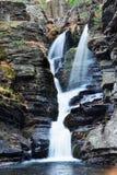 Autumn Waterfall in mountain Stock Photography