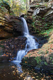 Autumn Waterfall in mountain Stock Photos