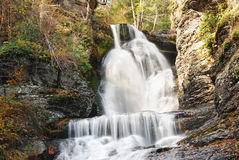 Autumn Waterfall in mountain Stock Photography