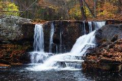 Autumn Waterfall in mountain Royalty Free Stock Image