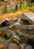 Autumn Waterfall, Mt Rainier National Park, Washington State Lizenzfreie Stockfotos