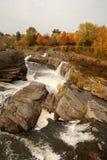 Autumn waterfall scene. Scene of Waterfall at hogs back park , ottawa, canada in the autumn Stock Photo
