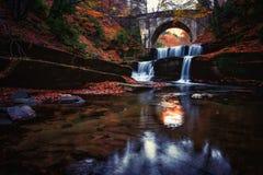 Autumn waterfall. Autumn waterfal in Rhodope mountain, Bulgaria Stock Image