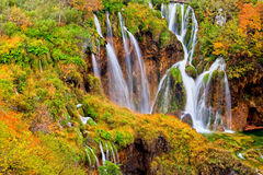 Autumn Waterfalls Stock Images
