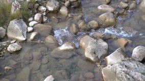 Autumn, waterfalls and streams, foliage stock video
