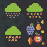 Autumn weather elements Stock Image