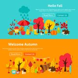 Autumn Website Banners illustration stock