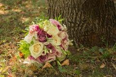 Autumn wedding bouquet royalty free stock photos