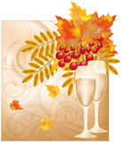 Autumn wedding card Royalty Free Stock Images