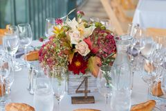 Autumn Wedding Floral Centerpiece photos libres de droits