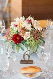 Autumn Wedding Floral Centerpiece photo libre de droits