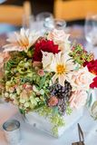 Autumn Wedding Floral Centerpiece photographie stock libre de droits