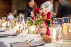 Autumn Wedding Floral Centerpiece photo stock
