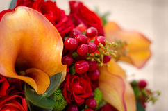 Autumn wedding flowers Stock Image