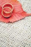 Autumn wedding invitation stock images