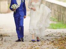 Autumn Wedding Walk Stock Photos