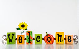 Autumn Welcome Frame Royalty Free Stock Images