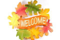 Autumn welcome sign. Stock Images