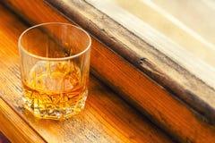 Autumn whiskey tumbler Royalty Free Stock Image