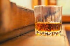Autumn whiskey tumbler Royalty Free Stock Photos
