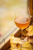 Autumn white wine Stock Image