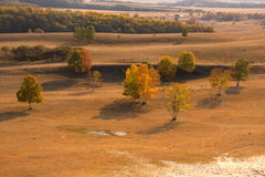 Autumn. A wide stretch of land here.Not somebody else Royalty Free Stock Image