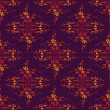Autumn wild grape in blue background. Seamless border pattern Royalty Free Stock Photos
