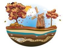 Autumn Windmill Island Stock Photos