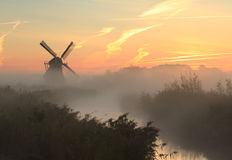 Autumn windmill Stock Images