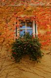 Autumn window. A Bavarian window in autumn Stock Photo