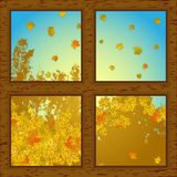 Autumn through window Stock Photography