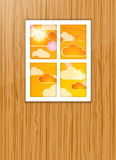 Autumn after a window. Royalty Free Stock Images