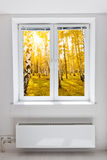 Autumn window Royalty Free Stock Images