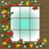 Autumn window view Royalty Free Stock Photos