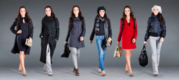 Autumn winter collection  lady's clothes Royalty Free Stock Image