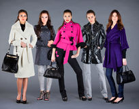 Autumn winter collection lady's clothes Stock Photography