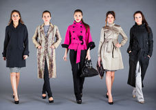 Autumn winter collection lady's clothes Royalty Free Stock Photography