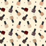 Autumn winter color nail polish seamless pattern background illustration Stock Images