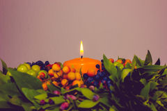 Autumn, Winter, Cristmas  Decoration Stock Images