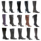 Autumn and winter female footwear Royalty Free Stock Image