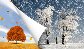 Autumn and winter landscape Royalty Free Stock Photo