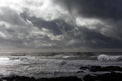 Autumn and winter seascape Royalty Free Stock Photography
