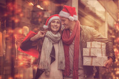 Autumn winter shopping tour Stock Images