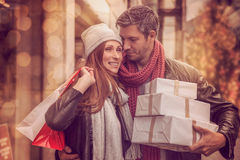 Autumn winter shopping tour Royalty Free Stock Photography