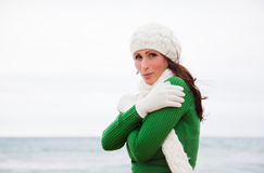 Autumn winter woman Royalty Free Stock Photography